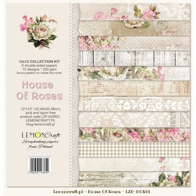 House of Roses 12x12  Paper Set