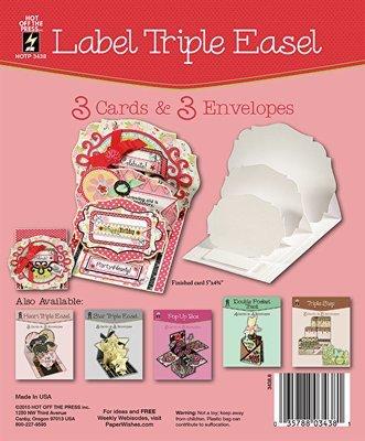 Label Triple Easel Card Set