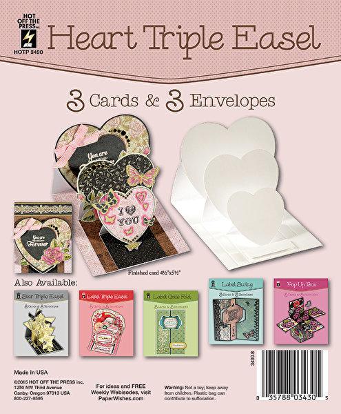 Heart Triple Easel Card Set