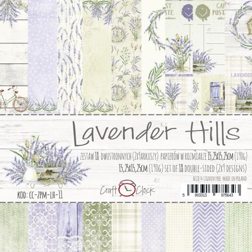 LAVENDER HILLS 6x6 Paper set