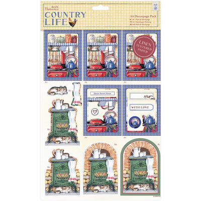 'COUNTRY KITCHEN' DeCoupage pack