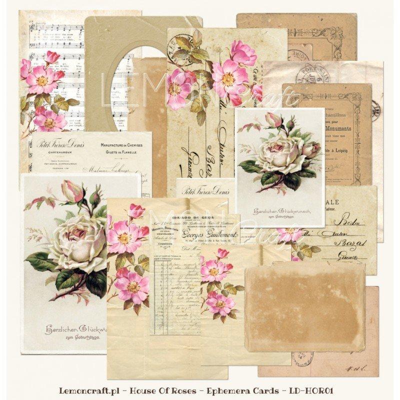 House of Roses Ephemera Cards