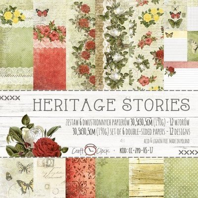 HERITAGE STORIES 12x12 Paper Collection