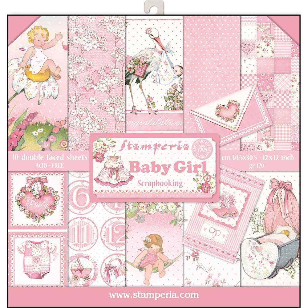 STAMPERIA BABY GIRL 12x12 Paper Set