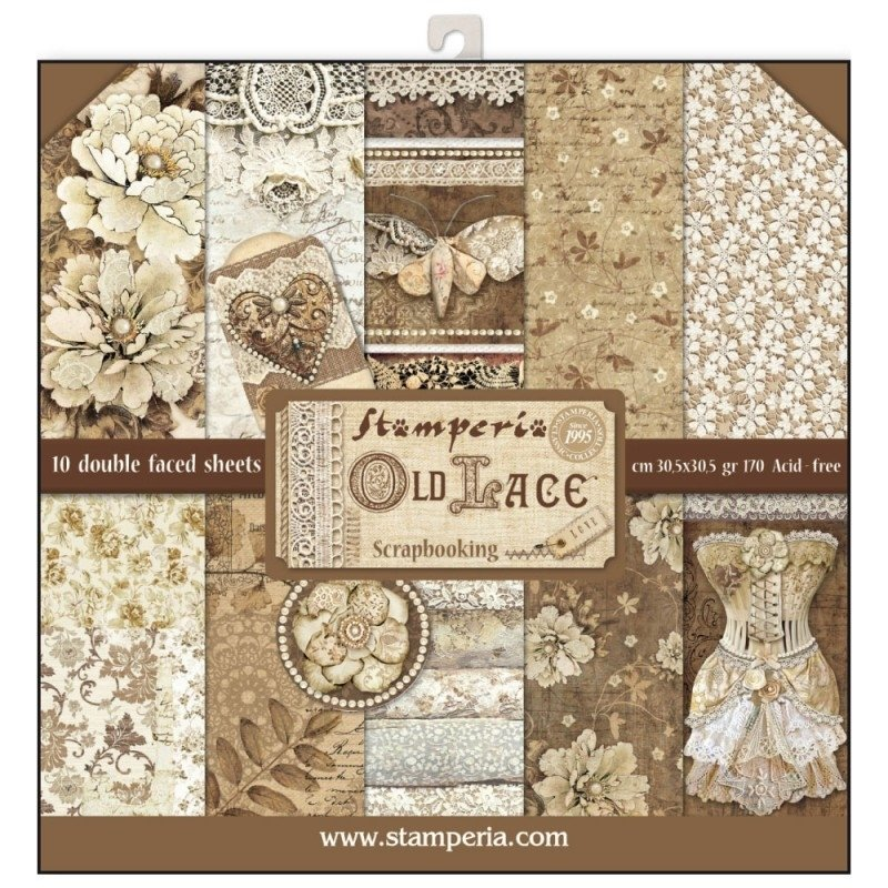 STAMPERIA OLD LACE 12x12 Paper Set