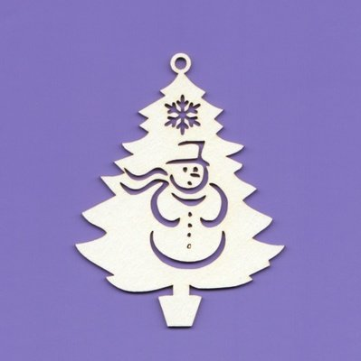 Christmas Tree with Snowman