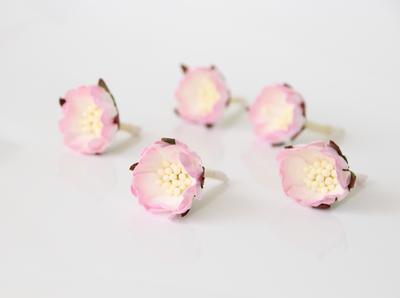 Wild Roses Pink White