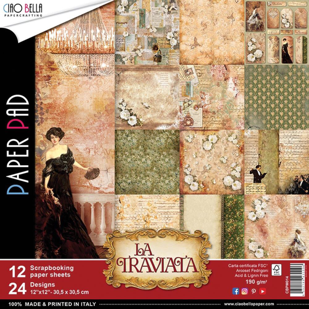 La Traviata 12x12 Paper Pad
