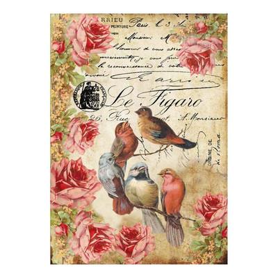 Le Figaro Birds Rice Paper