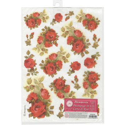 Red Roses Rice Paper