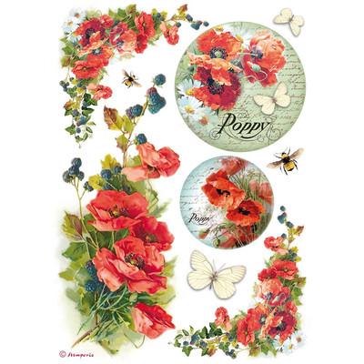 Poppies Rice Paper
