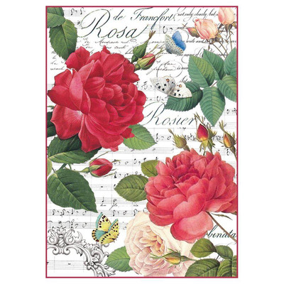 Roses/Music Rice Paper