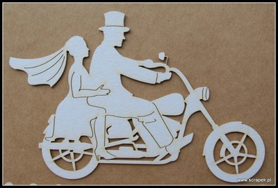 Motorcycle Wedding chipboard