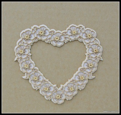 Pansy Heart Frame 2D