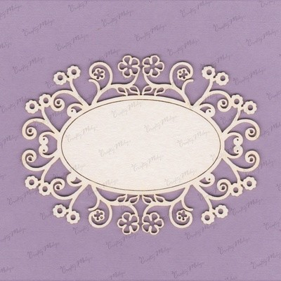 Decorative Oval Frame 4