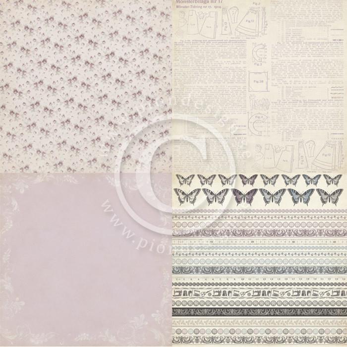 Alma's Sewing Room  - Purple Wallpaper