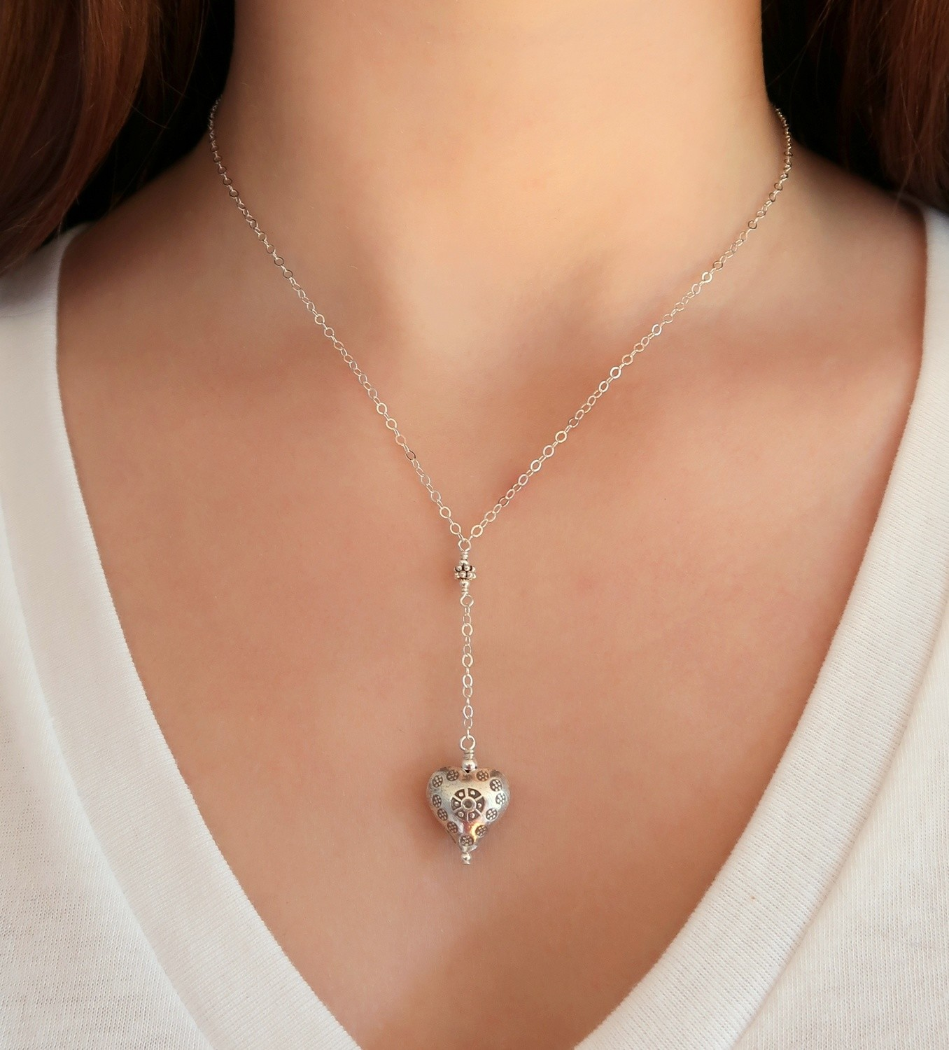 Heart Y Necklace
