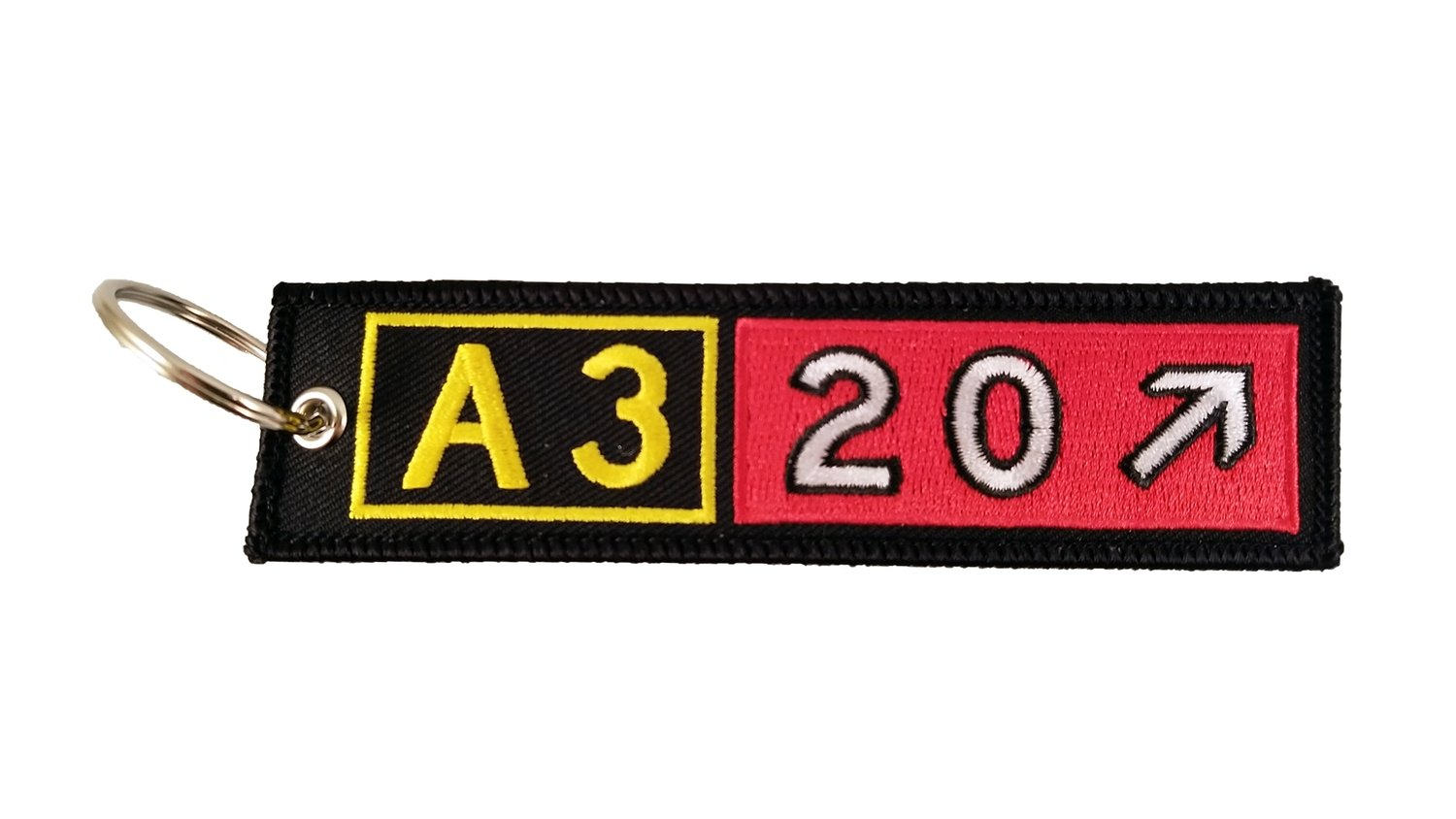 Airbus A320 Embroidered Taxiway Sign Keychain