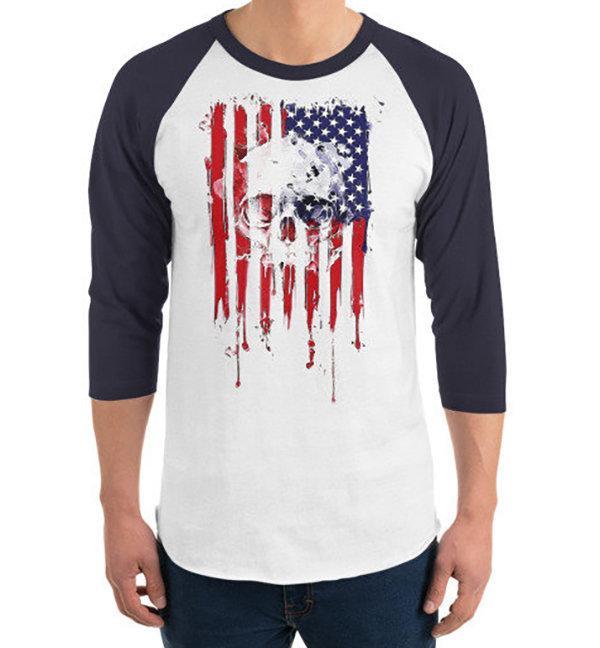 American Skull Flag T-shirt