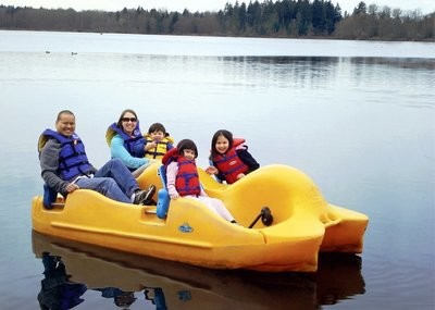 1 Hour 4 Person Pedal Boat Gift Certificate