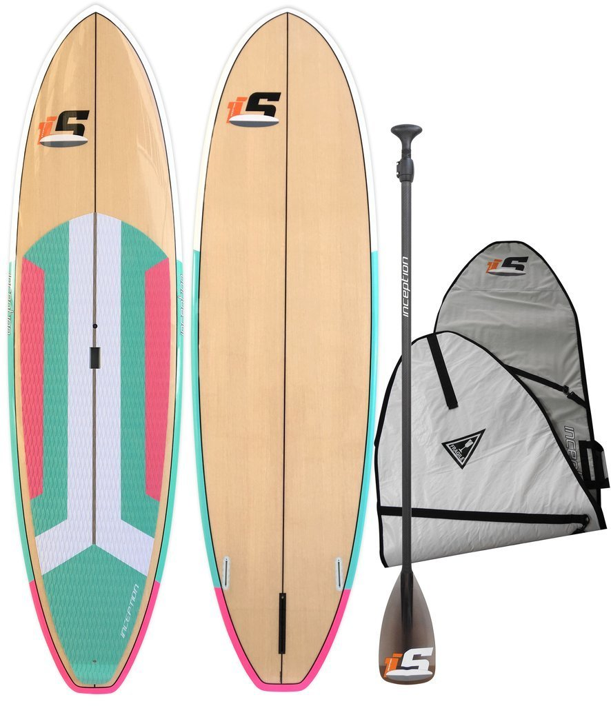 Inception Aqua/Pink/Wood - Package (Board, Bag, Paddle, Leash)