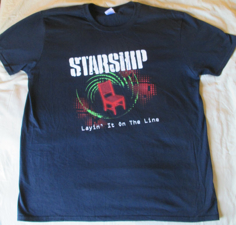 Starship - Layin' It On The Line World Tour T-Shirt (Black) (Men's)