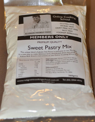 Rick Grant's GF Sweet Pastry Mix If you want a Gluten Free Sweet Pastry, this one is for you! Rick Grant's Sweet Pastry Mix makes delcious Tart bases, Tartlet Shells, or Sweet Pastry bases.