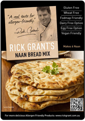 Rick Grant's famous Naan Bread - Gluten Free and Fodmap Friendly. These Naan Breads are even better than their Wheat based brothers! Delicious with curries, stews or serve with some dips!