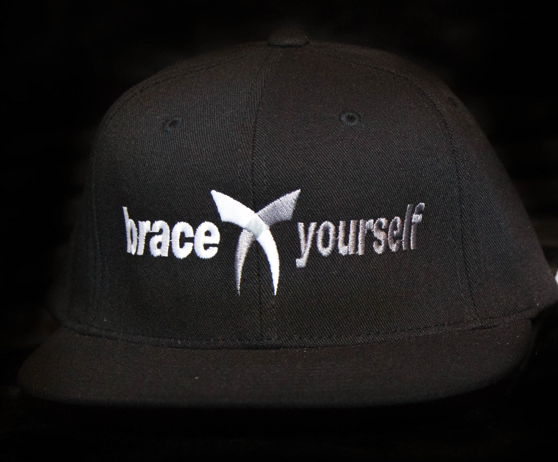BRACE YOURSELF HAT - BLACK 00016