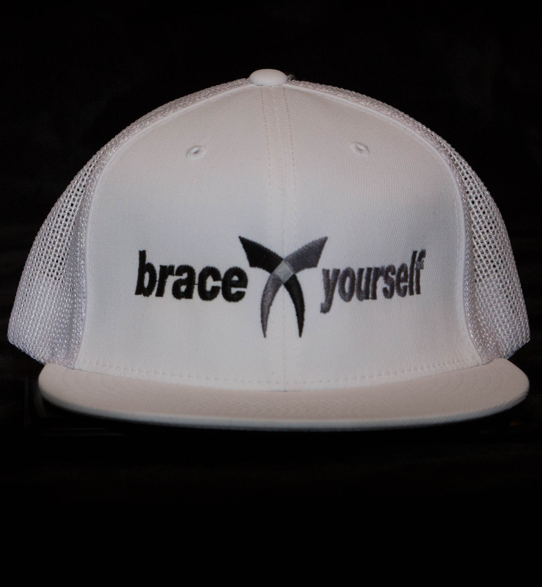 BRACE YOURSELF HAT - WHITE 00020