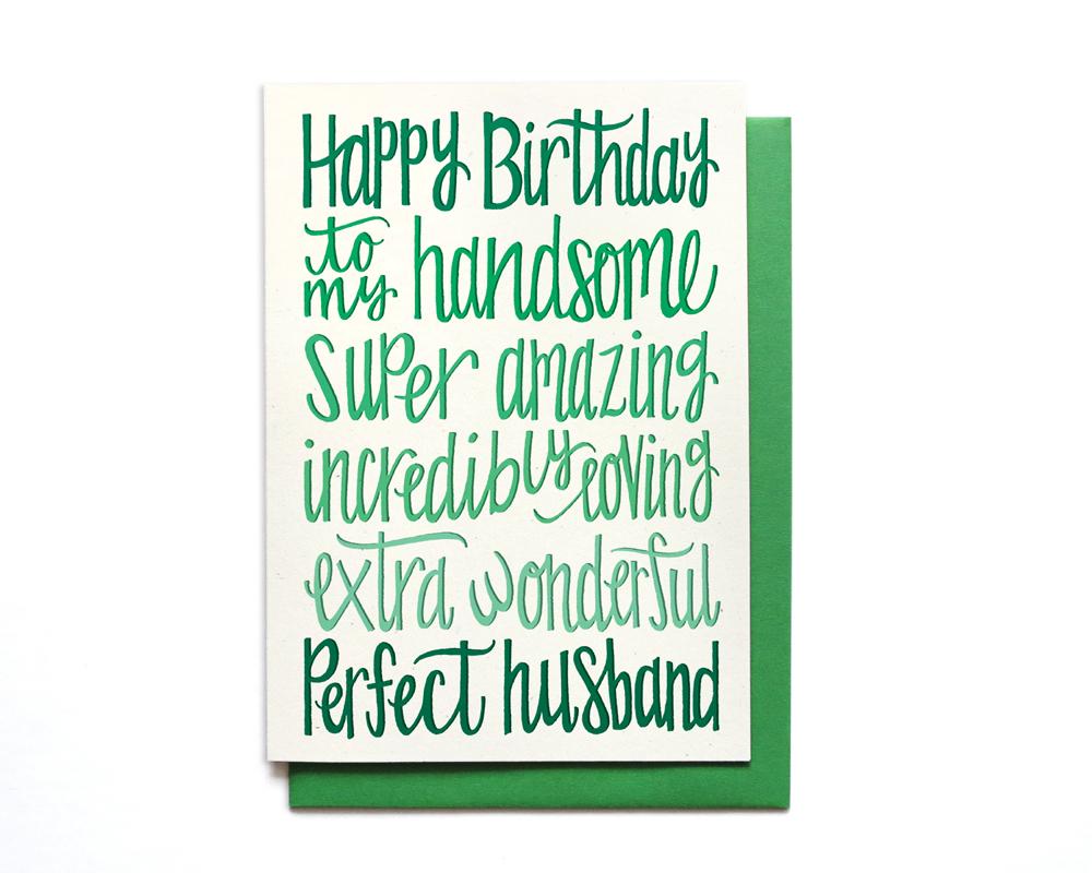 Birthday card husband bookmarktalkfo Choice Image