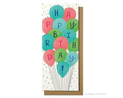 Birthday card balloons money card bookmarktalkfo Images