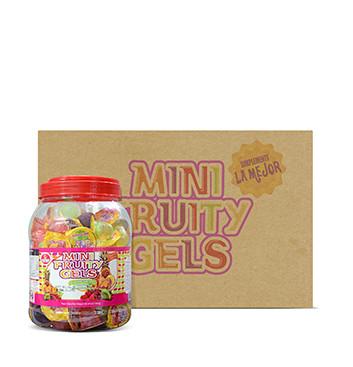 Caja de Mini Gelatinas Mini Fruity Gels® Tarro Redondo Tradicional - 6x1500g