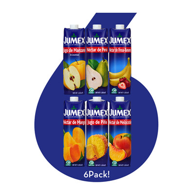 6Pack! de Jugos y Néctares Jumex® -  6x1 Litro
