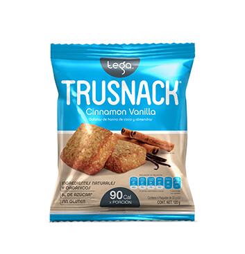 Snack Vegano TRUSNACK® Sabor a Vainilla Canela - 120 g