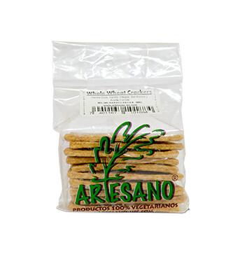 Galletas Whole Wheat Crackers Artesano, 125g