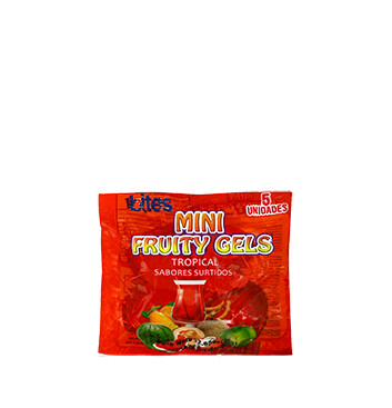 Mini Gelatinas Mini Fruity Gels® Bolsa Tropical - 75g