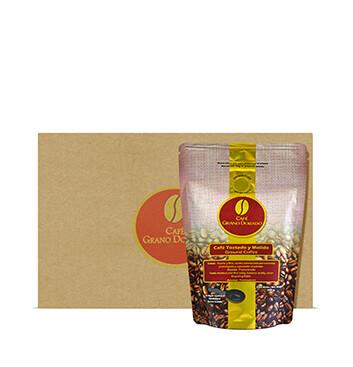 Caja con Café Grano Dorado Especial (Molido) - 8x300g