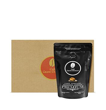 Caja con Café Grano Dorado Premium (Molido) - 8x300g