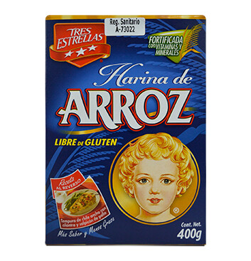 Caja Harina de arroz 3 estrellas La Moderna - 400g