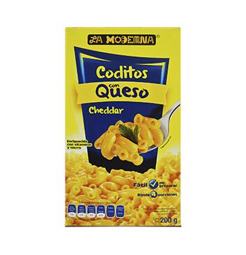 Bolsa de Coditos con queso La Moderna -200g