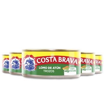 Atún con Vegetales - Costa Brava - 5 Unidades - 150g/Lata