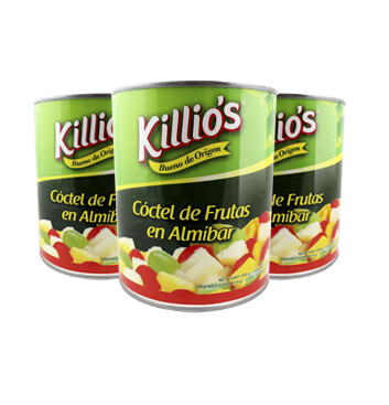 Coctel de Frutas - Killio's - 3 Unidades - 820g/Lata