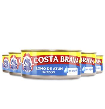 Atún en Agua - Costa Brava - 5 Unidades - 150g/Lata