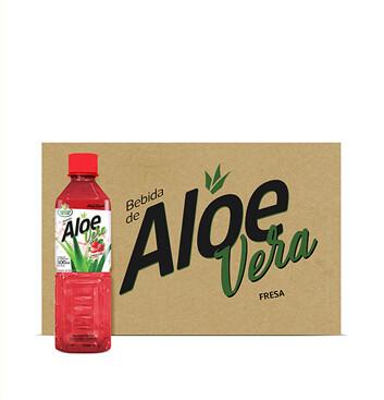Caja de Aloe Vera Selección del Chef® Fresa - 24x500ml