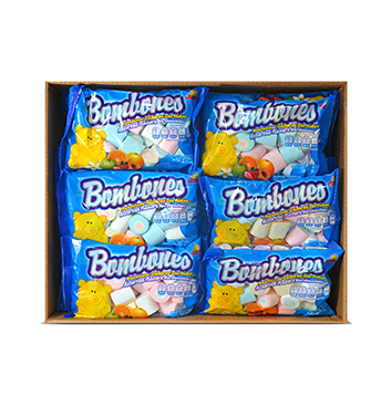 Caja de Marshmallows Tricolor Guandy® - 30x200g