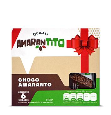 Barras Amaranto Quilali® - Chocolate 53% Cacao - 162g