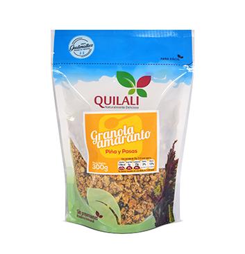 Granola Amaranto Quilali® - Piña y Pasas - 300g