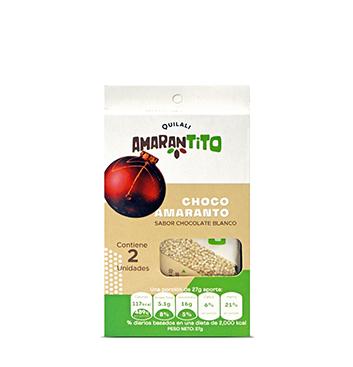 Barras Amaranto Quilali® - Chocolate Blanco - 54g