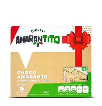 Barras Amaranto Quilali® - Chocolate Blanco - 162g